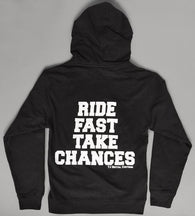 TJ Brutal Customs Ride Fast Take Chances Zip Hoodie Back