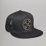 TJ Brutal Customs Snapback Hat Tetra Logo Black