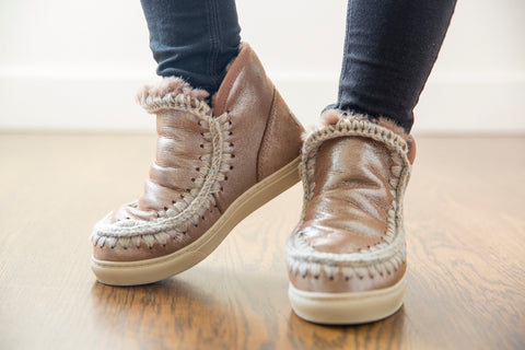 Mou Mini Eskimo Sneaker in Metallic