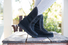 Mou Eskimo Inner Wedge Tall Black Boot - Little Moving Spaces