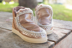 Mou Mini Eskimo Sneaker in Metallic - Little Moving Spaces