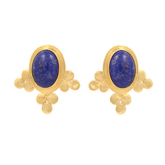 Ethiopian Lolly Lapis Earrings - Little Moving Spaces