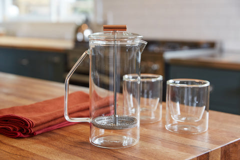 Yield Design 850 mL Clear Glass French Press