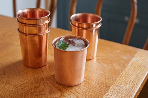 Yield Copper Cups, Set of Two