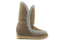 Mou Eskimo Inner Wedge Tall Dust Camel Boot - Little Moving Spaces