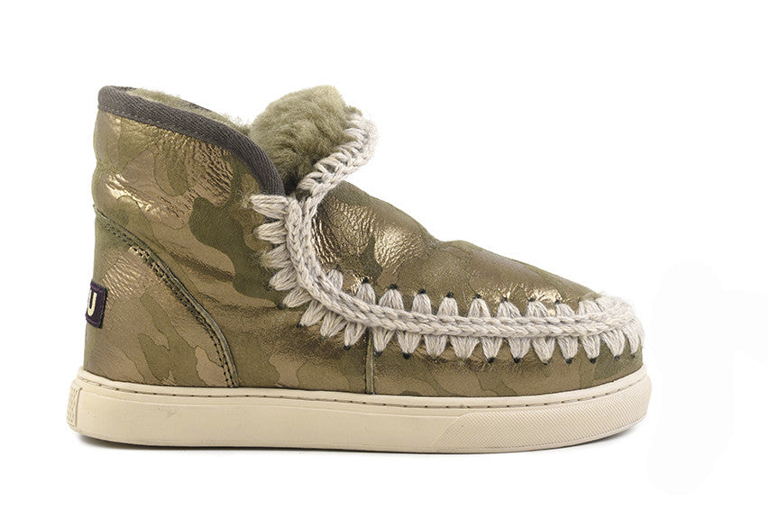 Mou Mini Eskimo Sneaker in Camo - Little Moving Spaces