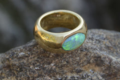 Oceanic Opal Gypsy Ring - Little Moving Spaces