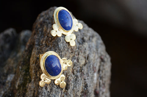 Ethiopian Lolly Lapis Earrings