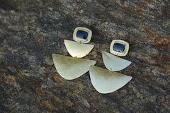 Modern Sapphire Telsum Earrings - Little Moving Spaces