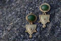 Green Joker Telsum Cut Earrings - Little Moving Spaces