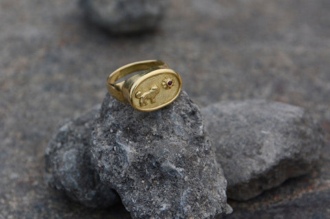 Lion in the Sun Ring