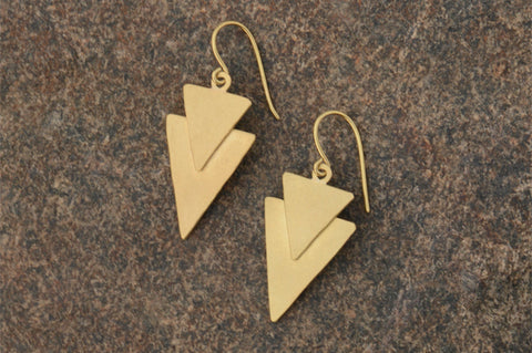 Double Spear Earrings