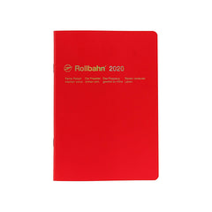 Delfonics - 2020 Rollbahn NoteDiary - Monthly - A5 - Soft Cover - Red