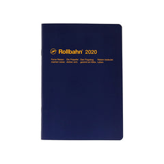 Delfonics - 2020 Rollbahn NoteDiary - Monthly - A5 - Soft Cover - Dark Blue
