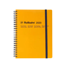 Delfonics - 2020 Rollbahn Diary Notebook - Monthly - A5 - Soft Cover - Yellow