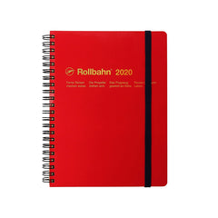 Delfonics - 2020 Rollbahn Diary Notebook - Monthly - A5 - Soft Cover - Red