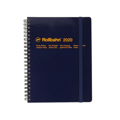 Delfonics - 2020 Rollbahn Diary Notebook - Monthly - A5 - Soft Cover - Dark Blue