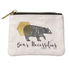 Folklore Bear Necessities Canvas Pouch - Small