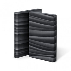 Nuuna Graphic Notebook Black Smooth Bonded Leather Abstract