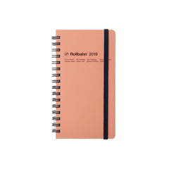 Delfonics - 2019 Rollbahn Diary Notebook - Monthly - Pocket - Soft Cover - Pink