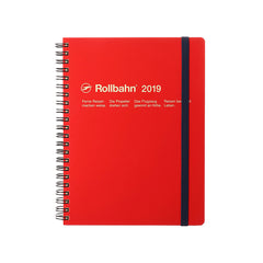 Delfonics - 2019 Rollbahn Diary Notebook - Monthly - A5 - Soft Cover - Red