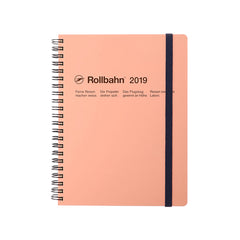 Delfonics - 2019 Rollbahn Diary Notebook - Monthly - A5 - Soft Cover - pink