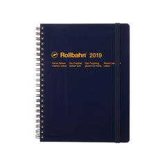 Delfonics - 2019 Rollbahn Diary Notebook - Monthly - A5 - Soft Cover - Dark Blue