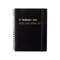 Delfonics - 2019 Rollbahn Diary Notebook - Monthly - A5 - Soft Cover - Black