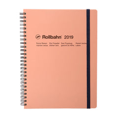 Delfonics - 2019 Rollbahn Diary Notebook - Monthly - Extra Large - Soft Cover - Pink