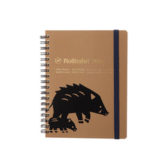 Delfonics - 2019 Rollbahn Diary Notebook - Monthly - Large - Soft Cover - Boar - Brown