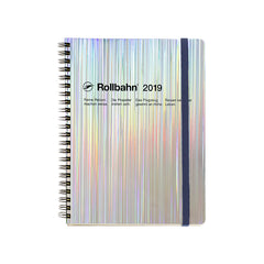 Delfonics - 2019 Rollbahn Diary Notebook - Monthly - A5 - Soft Cover - Hologram