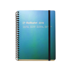 Delfonics - 2019 Rollbahn Diary Notebook - Monthly - A5 - Soft Cover - Metallic Green