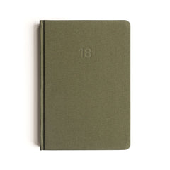 Mi Goals - 2018 Diary - A5 - Hard Cover - Khaki