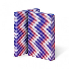 Nuuna Graphic Large Notebook Smooth Bonded Leather - Zig Zag
