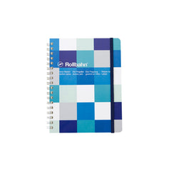 Delfonics Rollbahn Notebook - Grid - Large (14x18cm) - Block Check Blue