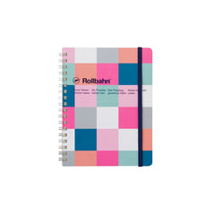 Delfonics Rollbahn Notebook - Grid - Large (14x18cm) - Block Check Pink