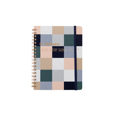 Delfonics Rollbahn Notebook - Grid - Large (14x18cm) - Block Check Beige