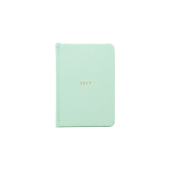Mi Goals - 2017 Weekly Diary - A6 - Hard Cover - Mint