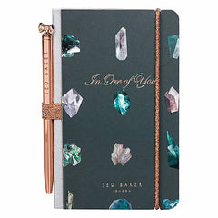 Ted Baker - Mini Notebook and Pen - Linear Gem