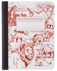 Decomposition Notebook - African Safari - Large - Ruled