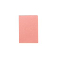 Mi Goals - Get Shit Done - Minimal - A6 - Lined Notebook - Coral