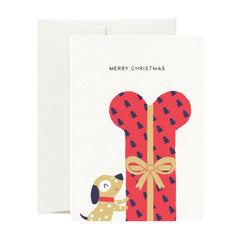 Card Nest - Wrapped up Christmas Dog - Christmas Card