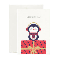 Card Nest - Wrapped up Penguin - Christmas Card