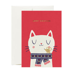 Card Nest - Wrapped up Christmas Cat & Mouse - Christmas Card