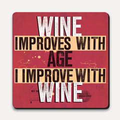 U Studio - Coaster - Scrawl - Improve With Wine