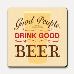 U Studio - Coaster - Lettered - Good People Good Beer