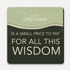 U Studio - Coaster - Lettered - Grey Hair