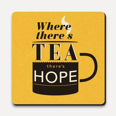 U Studio - Coaster - Lettered - Tea And Hope