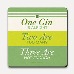 U Studio - Coaster - Lettered - One Two Three Gin