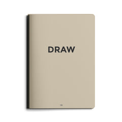 Octagon Design - Draw  – Mini Notebook - Plain
